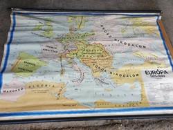 Földrajzi térkép, falitérkép iskolai szemléltető.EURÓPA 1815-1849