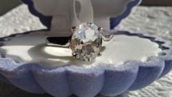 Akvamarin 925 ezüst gyűrű 58