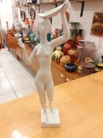 Retro Drasche/Kőbányai Porcelán festetlen akt figura