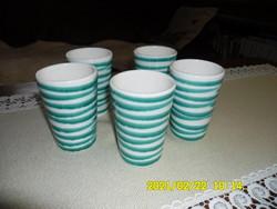 GMUNDNER  csíkos, hosszú alakú pohár 5 db