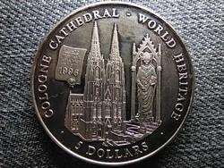 Libéria Világörökség Kölni székesegyház 5 Dollár 2000 PP (id46193)