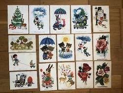 Aranyos kis régi Motívum képeslapok