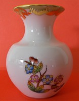 Herendi, Viktória mintás, hibátlan mini váza, ibolya váza
