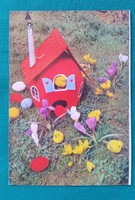 Retro húsvéti képeslap