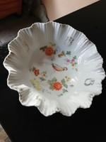 Silezia 1915 - 1938  kb 100 éves madaras porcelán asztalközép