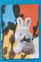 Retro nyuszis képeslap