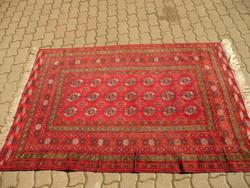 Antik Türkmén kézi csom. nomád szőnyeg, hibátlan, kopás mentes gyönyörű állapotban 200*133 cm
