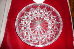 Nagyon szép mintázatú Ólomkristály  kínáló tál