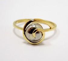 Kő nélküli sárga-fehér arany gyűrű (ZAL-Au96468)