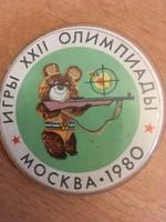 Sportlövészeti jelvény az 1980-as moszkvai olimpiáról