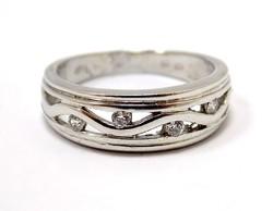 Fehér arany  köves gyűrű (ZAL-Au96466)