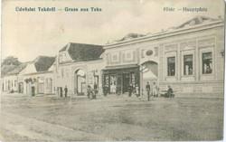 Dvözlet Tekéről - Gruss aus Teke Főtér - Hauptplatz