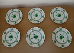 Herendi Apponyi mintás süteményes tányérok 1945
