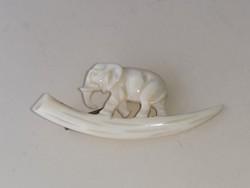 Csont bross, kitűző, (elefánt
