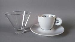 Matteo Thun 'Miss Illy' Swarowski-köves csésze, Rosenthal 2001