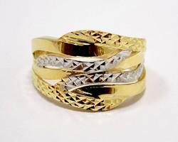 Kő nélküli sárga-fehér arany gyűrű (ZAL-Au95393)