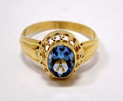 Világoskék köves arany gyűrű (ZAL-Au95371)
