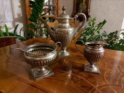Antik ezüst empire teáskészlet! 1400 gramm!