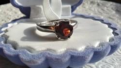 Gránát 925 ezüst gyűrű 54