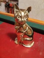 Elragadó nehéz réz macska szobor