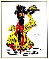 "Rola: ""Salome"" R. Strauss, 1905 - színes litográfia, keretezve"
