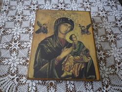 SZŰZ MÁRIA KIS JEZUSSAL IKON nyomat falikép
