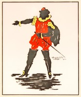 """Rola: """"Rigoletto"""" Verdi, 1850 - színes litográfia, keretezve"""