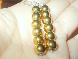 Arany árnyalatú Shell Pearl Gyöngy Fülbevaló 6 cm !
