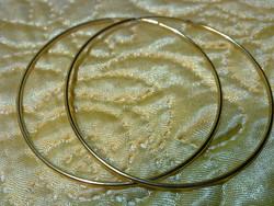 Aranyozott ezüst hatalmas gyönyörű 70 mm karika fülbevaló sárga arany tökéletes