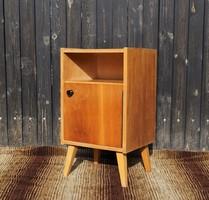 Minimalista retro skandináv stílusú mid-century mini éjjeliszekrény kis szekrény tároló
