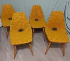 Retro magyar Erika székek - eredeti huzattal gyönyörű állapotban