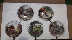 5db-os angol porcelán tányérka