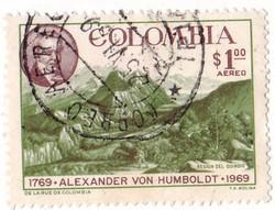Kolumbia légiposta bélyeg 1969