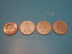 4 db ezüst régipénz egyben eladó