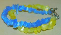 Kék-Sárga Macskaszem ásvány 2 soros Karkötő 2021 divat színe: A Sárga