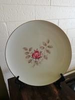 Régi bavaria virágmintás tányér, dísztányér