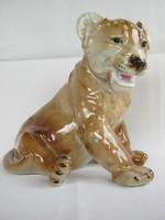 Royal dux porcelán oroszlán kölyök