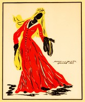 "Rola: ""Romeo and Juliette"" Gounod, 1867 - színes litográfia, keretezve"