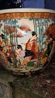 Nagyméretű kínai porcelán kaspó