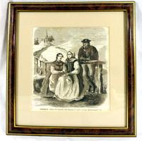 Greguss János (1838-1892): Székelyek ! 1800 as évek második fele metszet !