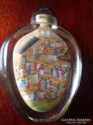 Kínai illatszeres flakon,miniatűr festéssel