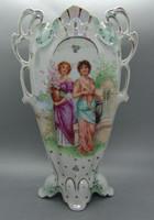 B150 Victoria Austria lüsztermázas serleg váza - gyönyörű hibátlan gyűjtői darab