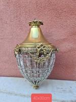 Empire ,ampír stílusú kosaras mennyezeti lámpa , csillár