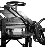 Antik papírvágó gép