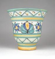 1D328 Jelzett iparművészeti Gorka Géza kerámia váza 11 cm