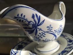 Antik, Villeroy and Boch kék - fehér szószos kiöntő