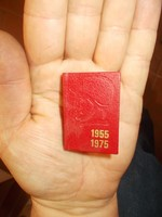5cm miniatür könyv hűség az internacionalizmushoz 1975
