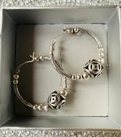 Pandora jellegű ezüst karika fülbevaló