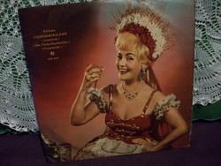 Németh Marika operett énekesnő bakelit lemez Csárdáskirálynő c. oprettből
