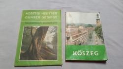 KÖSZEG TÉRKÉP+KÖSZEG TURISZTIKAI KISKÖNYV 1980-AS ÉVEKBŐL